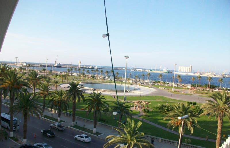 Vue de Tripoli de paix sur le bord de mer image stock