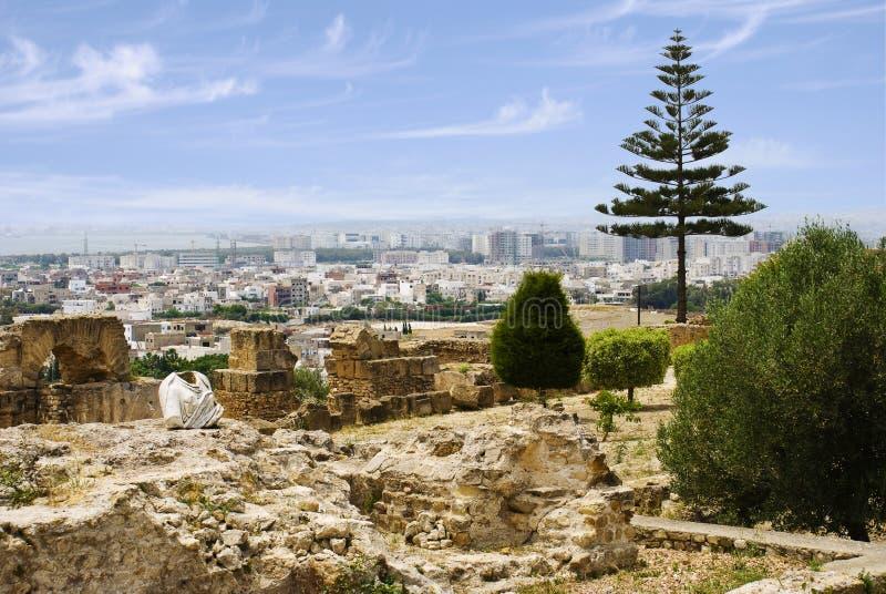 Vue de Tunis des bières de colline photo stock