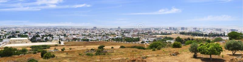 Vue de Tunis des bières de colline image stock