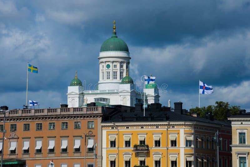 Vue de tuomiokirkko de Helsingin de cathédrale de Helsinki images stock