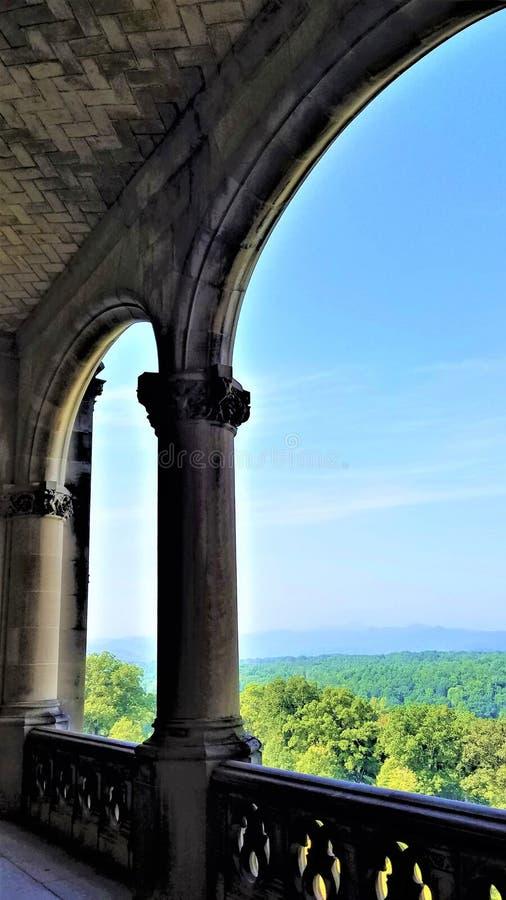 Vue de véranda de Biltmore photo libre de droits