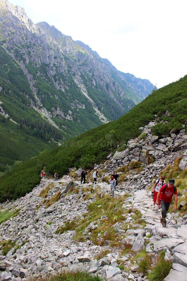 Vue de vallée de 5 lacs dans haut Tatras photographie stock