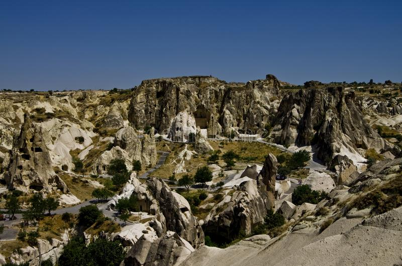 Vue de vallée du sud de Cappadocia photo stock