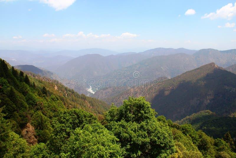 Vue de vallée en Inde photographie stock