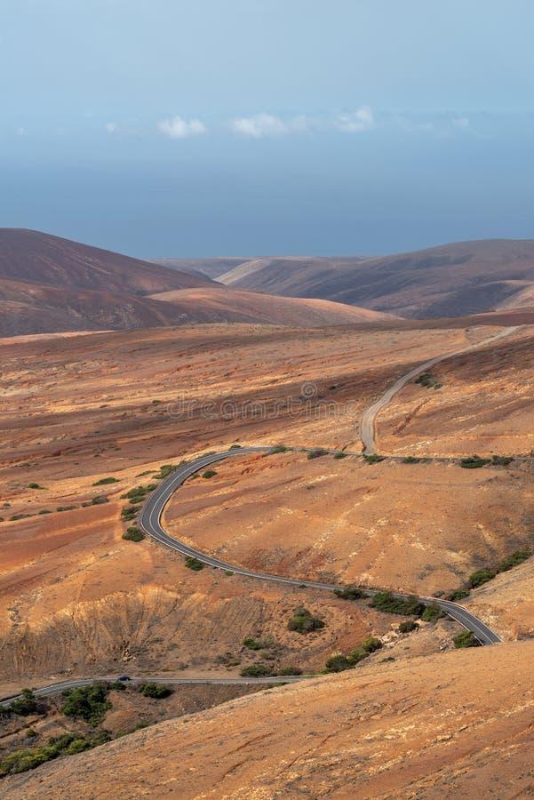 Vue de Valle De Santa Ines de Mirador de Morro Velosa, Fuerteventura photos libres de droits