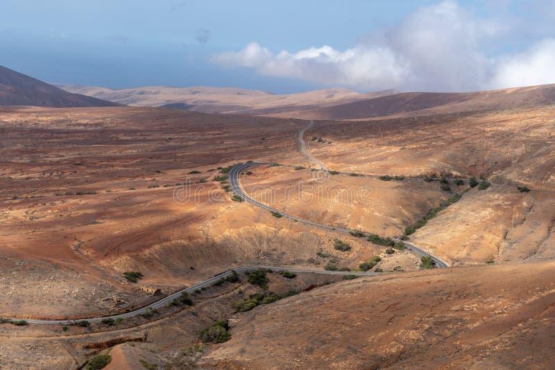 Vue de Valle De Santa Ines de Mirador de Morro Velosa, Fuerteventura photo libre de droits