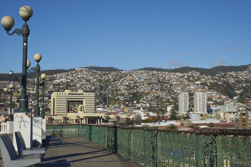 Vue de Valparaiso de baron de Mirador image stock