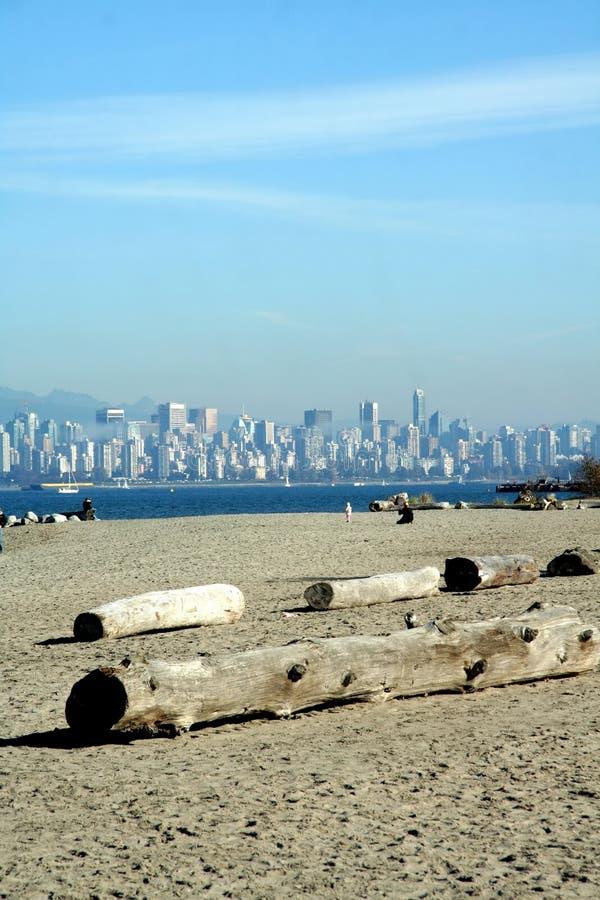 Vue de Vancouver du centre image libre de droits