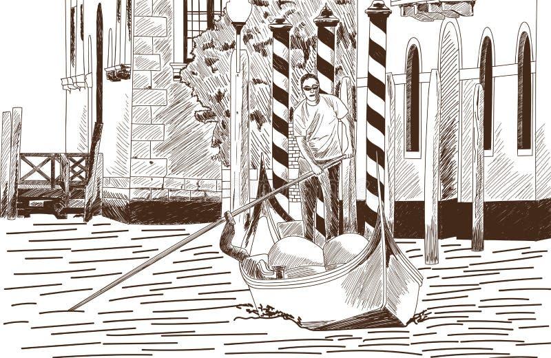 vue de Venise illustration libre de droits