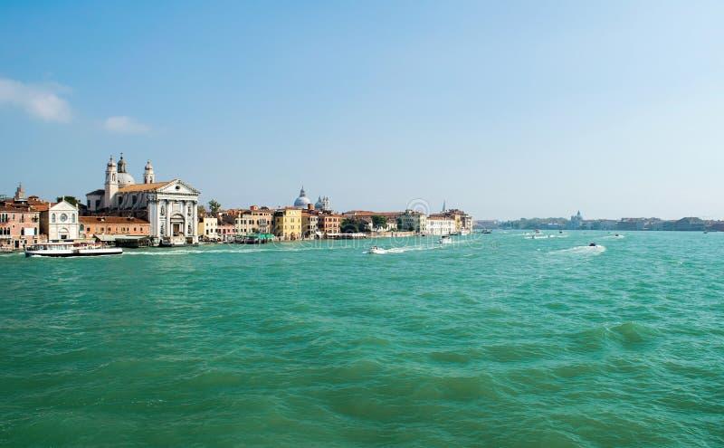 Vue de Venise, Italie depuis le canal de Judeca images libres de droits
