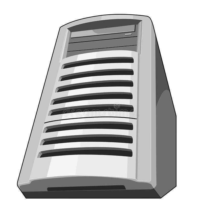 Vue de ver de terre de serveur d'ordinateur illustration stock