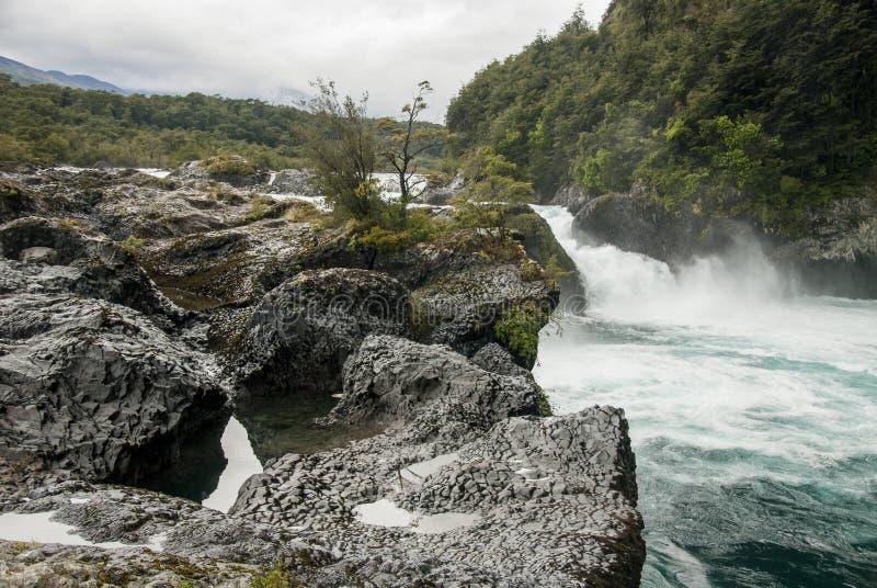 Vue de Vicente Perez Rosales National Park - le Chili images libres de droits