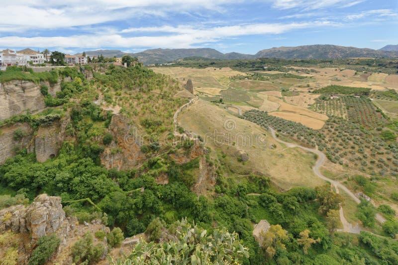 Vue de vieille ville de Ronda, Malaga, Andalousie, Espagne photo stock