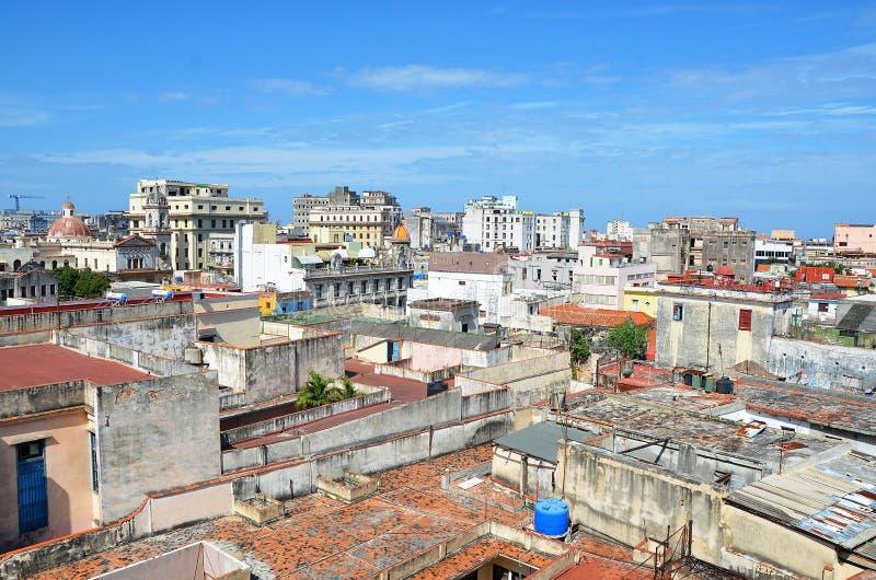 Vue de vieja de La Havane - vieille ville, Cuba photographie stock libre de droits