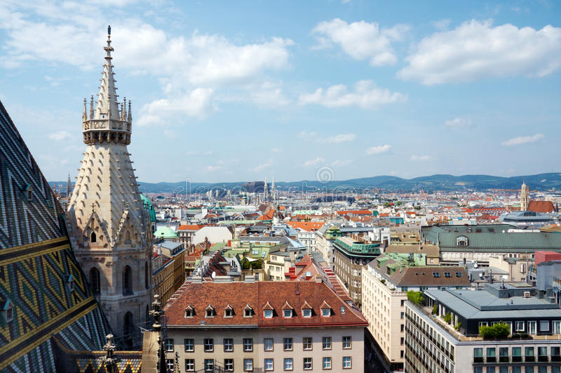 Vue de Vienne photo stock