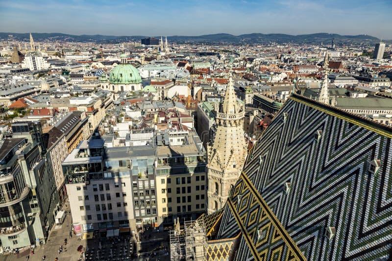 Vue de Vienne de la cathédrale de StStephan image libre de droits