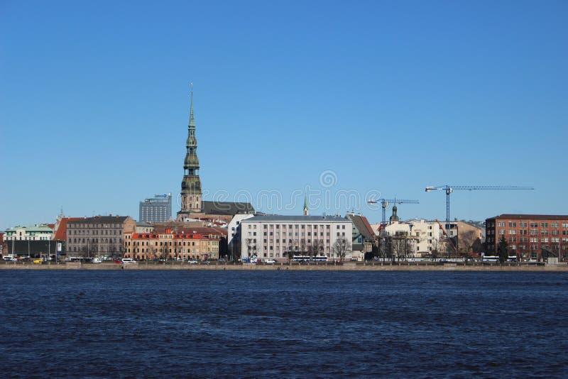Vue de vieux Riga image libre de droits