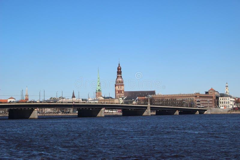 Vue de vieux Riga photos stock