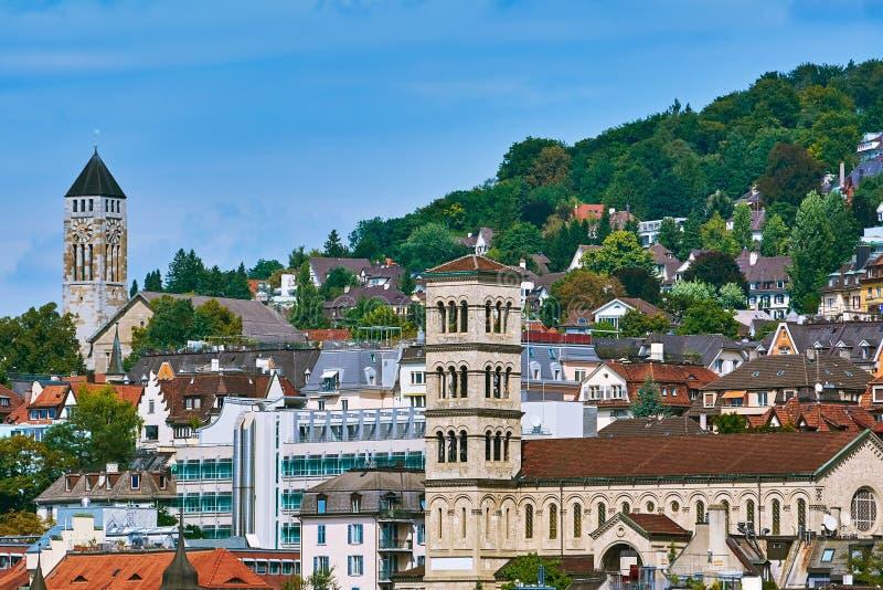 Vue de vieux Zurich images libres de droits
