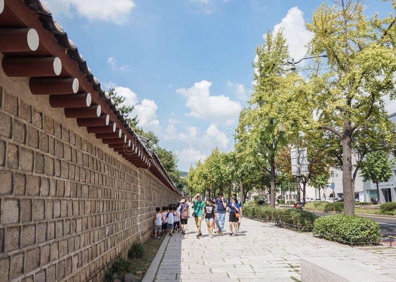 Vue de ville à Séoul l'été, Corée du Sud, septembre 2015 photos libres de droits