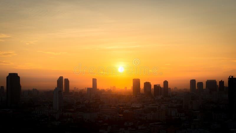 Vue de ville de Bangkok pendant le matin photo libre de droits