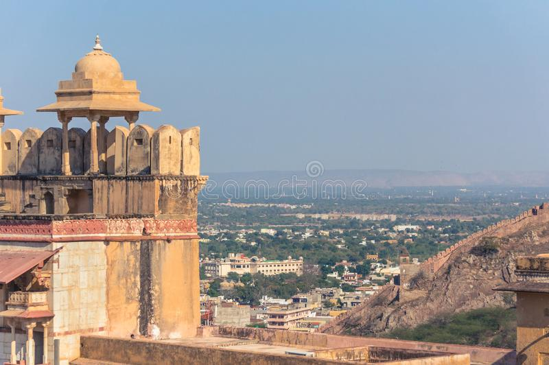 Vue de ville d'Amer d'Amber Fort photo stock
