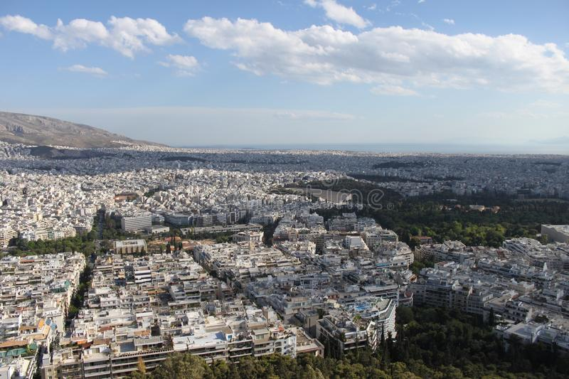 Download Vue De Ville D'Athènes - Grèce Photo stock - Image du ciel, ville: 76082836