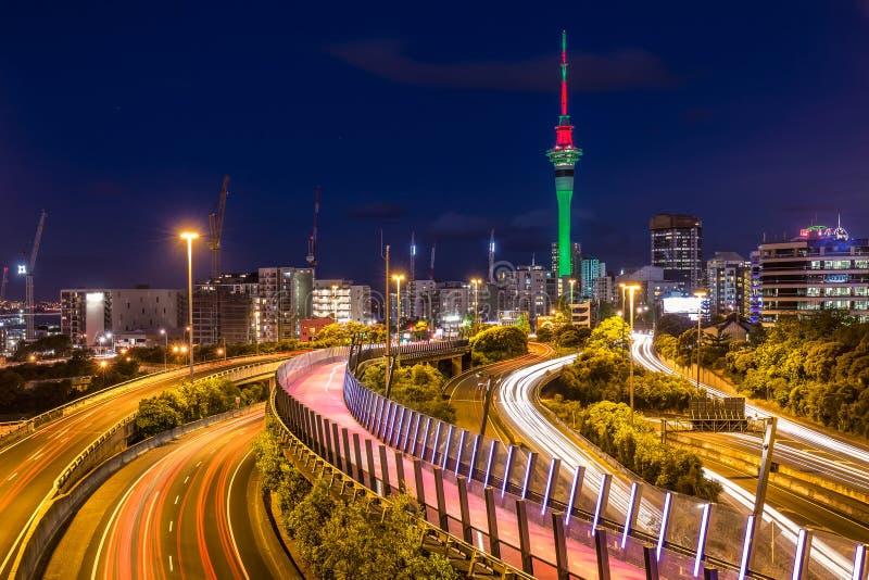 Vue de ville d'Auckland images libres de droits
