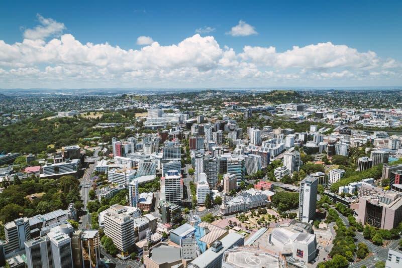 Vue de ville d'Auckland de la tour de ciel photos stock