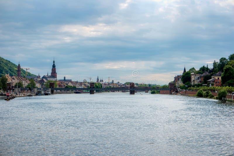 Vue de ville d'Heidelberg images stock