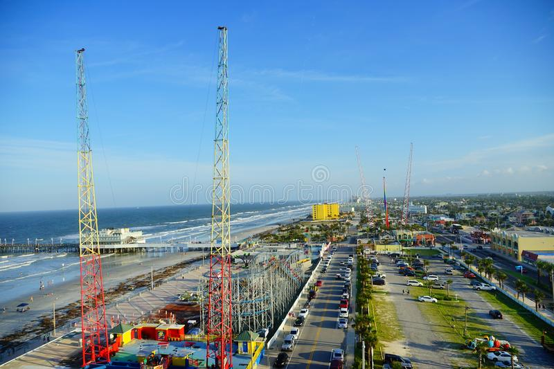 Vue de ville de Daytona Beach photos stock
