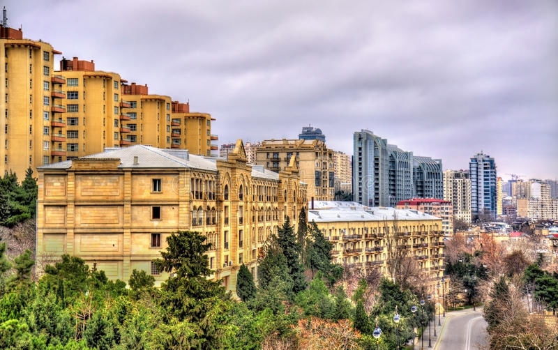 Vue de ville de Bakou photographie stock