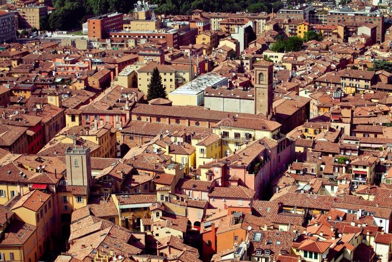 Download Vue de ville de Bologna image stock. Image du toit, dessus - 77160623