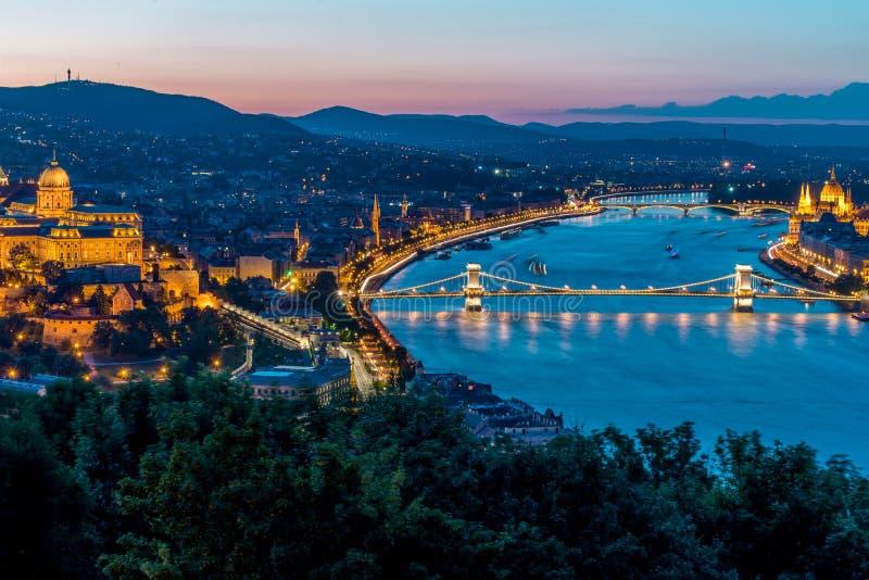 Vue de ville de Budapest photographie stock libre de droits