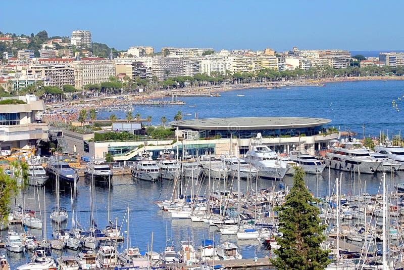 Vue de ville de Cannes, sud de la France photos stock