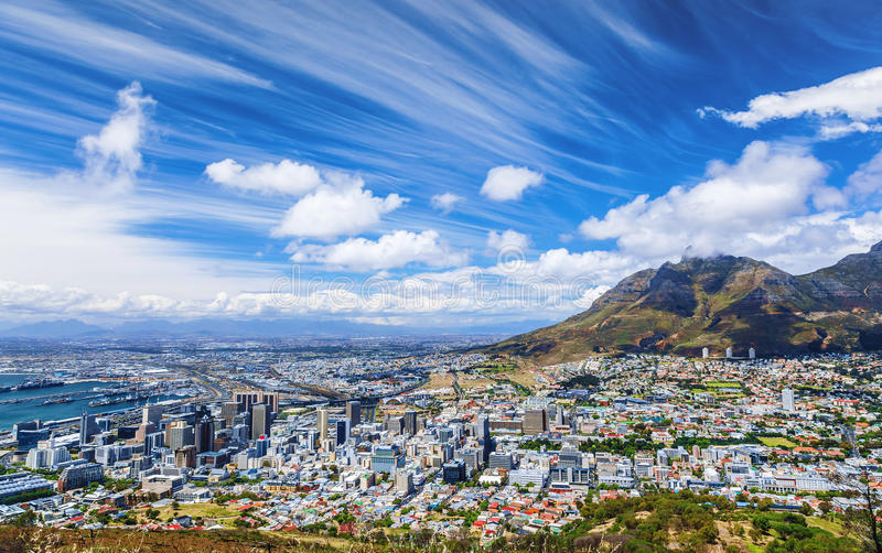 Vue de ville de Cape Town photo stock