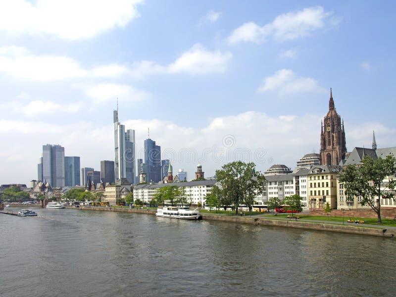 Vue de ville de Francfort sur Main image stock