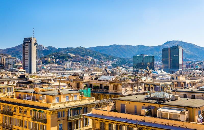 Vue de ville de Gênes - Italie image libre de droits
