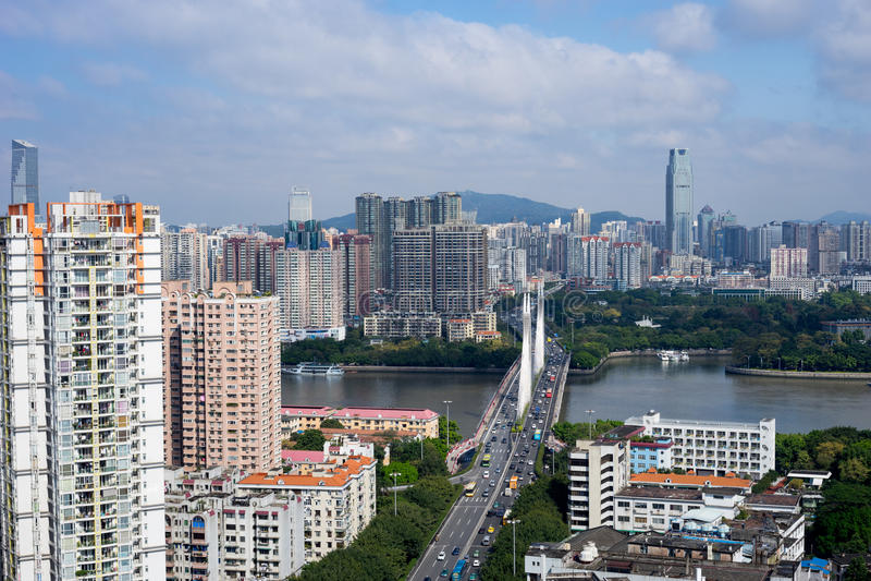 Vue de ville de Guangzhou photo stock