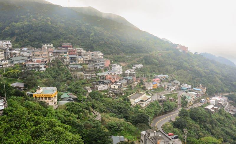 Vue de ville de Jiufen à Taïwan image libre de droits