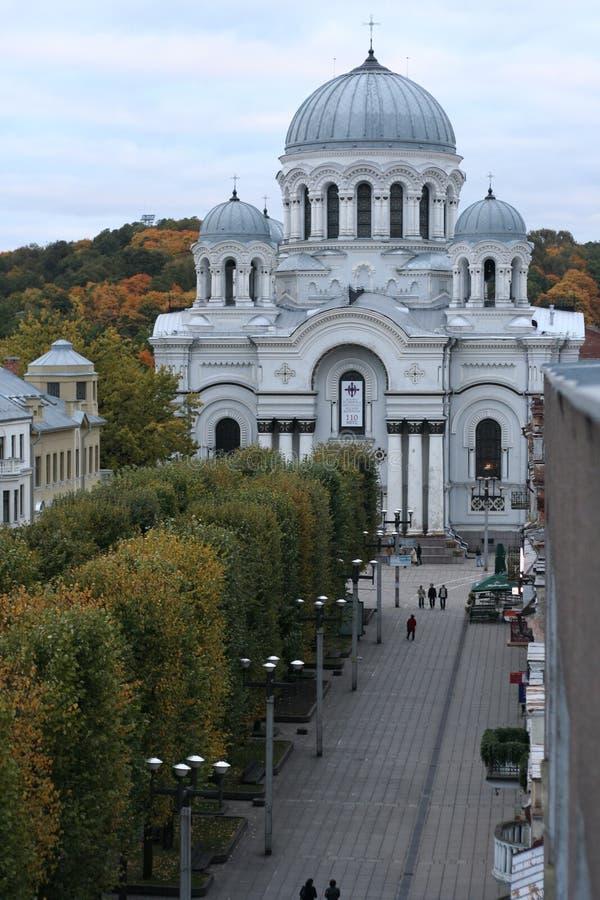 Vue de ville de Kaunas de ci-avant images stock