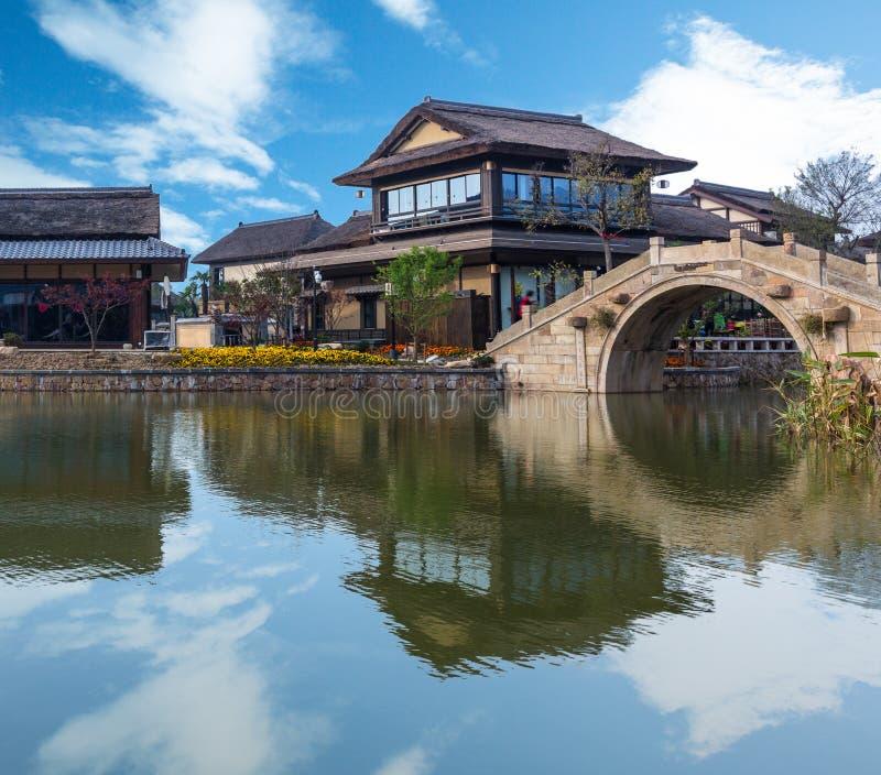 Vue de ville de l'eau de Gubei dans Pékin image libre de droits