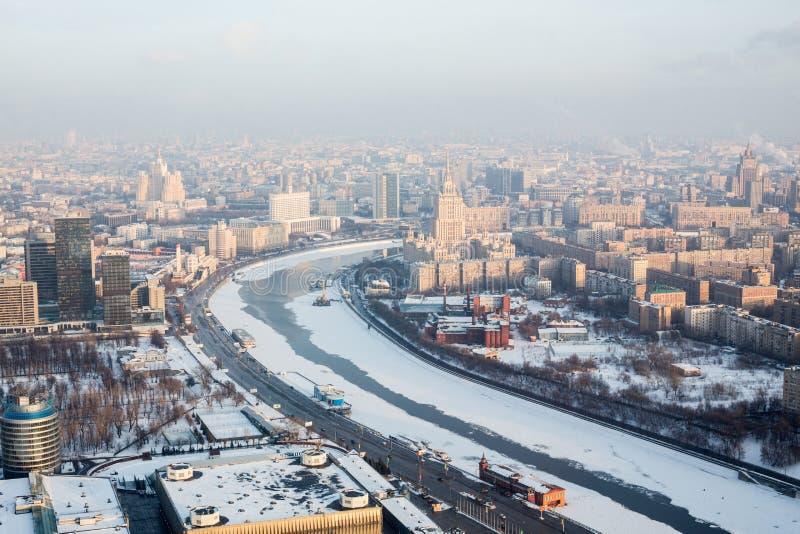 Vue de ville de Moscou sur le paysage avec la Maison Blanche  photo stock