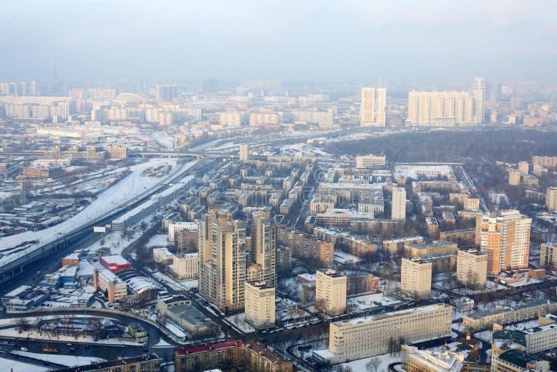 Vue de ville de Moscou sur le secteur de Presnensky photographie stock