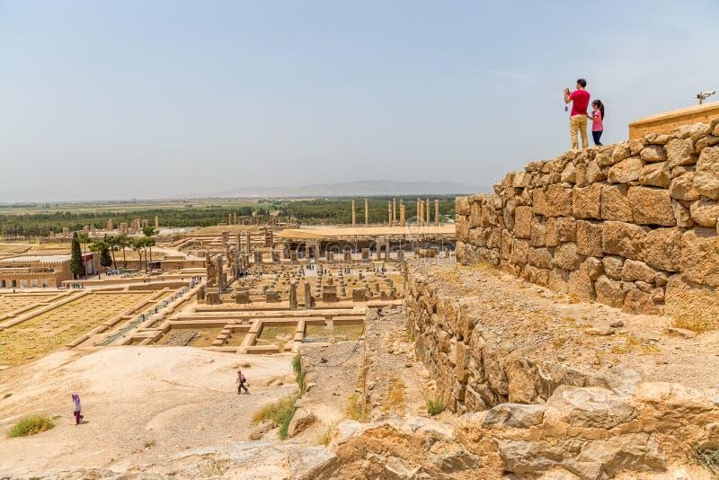 Vue de ville de Persepolis photographie stock libre de droits