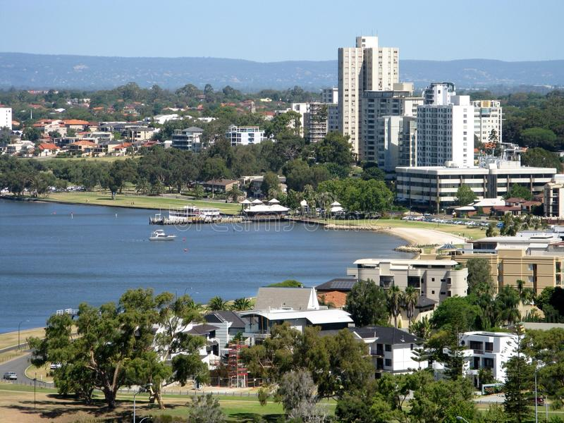 Vue de ville de Perth photographie stock libre de droits