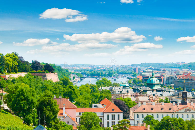Vue de ville de Prague image stock