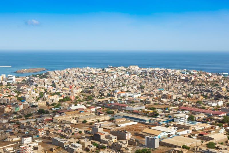 Vue de ville de Praia à Santiago - capitale des îles de Cap Vert - photos libres de droits