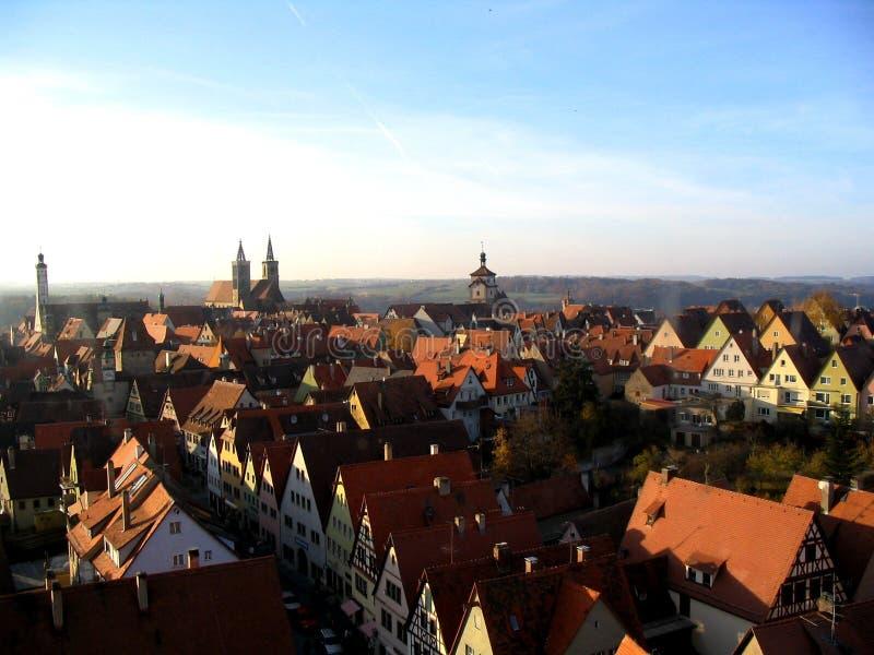 Vue de ville de Rothenburg photo libre de droits