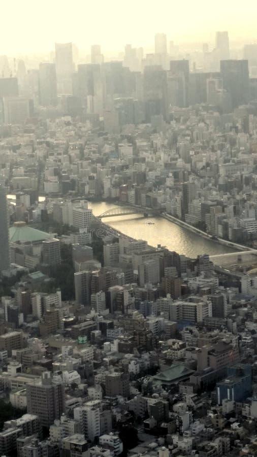 Vue de ville de Tokyo images stock